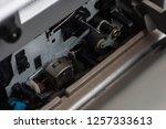 mechanism for reading music... | Shutterstock . vector #1257333613