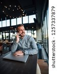 young entrepreneur talking over ... | Shutterstock . vector #1257337879