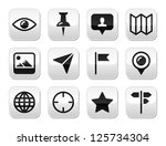 travel location modern buttons... | Shutterstock .eps vector #125734304