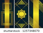 set of three vector cards with... | Shutterstock .eps vector #1257348070