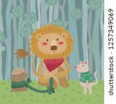 the lion and the mouse. aesop... | Shutterstock .eps vector #1257349069