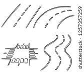 vector set of road | Shutterstock .eps vector #1257357259