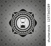 sand clock icon inside retro... | Shutterstock .eps vector #1257360289