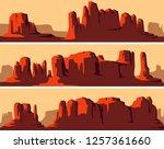 set of vector stylized banner... | Shutterstock .eps vector #1257361660
