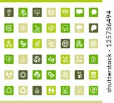 collection eco web icons. | Shutterstock .eps vector #125736494