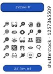 vector icons pack of 25 filled... | Shutterstock .eps vector #1257365509