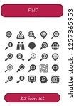 vector icons pack of 25 filled... | Shutterstock .eps vector #1257365953
