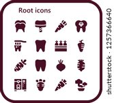 vector icons pack of 16 filled... | Shutterstock .eps vector #1257366640