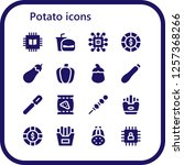 vector icons pack of 16 filled... | Shutterstock .eps vector #1257368266