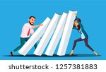 business competition vector.... | Shutterstock .eps vector #1257381883