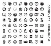 64 clock icon set for web and... | Shutterstock .eps vector #125738330