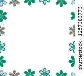 illustration in white  green... | Shutterstock .eps vector #1257383773