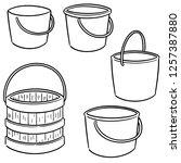 vector set of bucket | Shutterstock .eps vector #1257387880