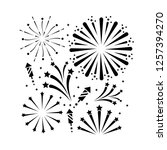 outline firework decoration to... | Shutterstock .eps vector #1257394270