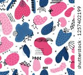 vector seamless pattern with... | Shutterstock .eps vector #1257402199