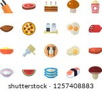 color flat icon set knives flat ... | Shutterstock .eps vector #1257408883