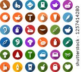 color back flat icon set  ... | Shutterstock .eps vector #1257414280