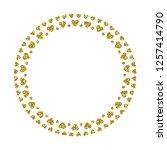 heart frame. cute golden... | Shutterstock .eps vector #1257414790