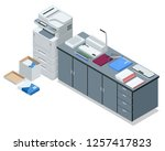 isometric office tools concept. ...   Shutterstock .eps vector #1257417823