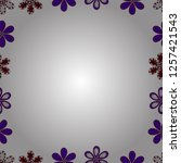 hand drawn vector border frame... | Shutterstock .eps vector #1257421543
