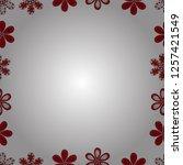 hand drawn doodle frames.... | Shutterstock .eps vector #1257421549