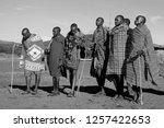 unidentified maasai men on oct...   Shutterstock . vector #1257422653