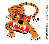 abc animals  t is for tiger.... | Shutterstock .eps vector #125742269
