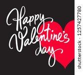 happy valentine's day... | Shutterstock .eps vector #1257427780