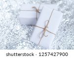 several small boxes with gifts... | Shutterstock . vector #1257427900