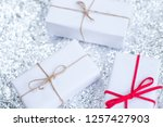 several small boxes with gifts... | Shutterstock . vector #1257427903