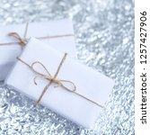 several small boxes with gifts... | Shutterstock . vector #1257427906