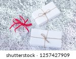 several small boxes with gifts... | Shutterstock . vector #1257427909
