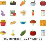 color flat icon set colander... | Shutterstock .eps vector #1257428476