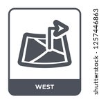 west icon vector on white... | Shutterstock .eps vector #1257446863