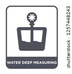water deep measuring icon... | Shutterstock .eps vector #1257448243