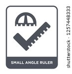 small angle ruler icon vector... | Shutterstock .eps vector #1257448333