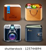 high detailed apps icons set.... | Shutterstock .eps vector #125744894