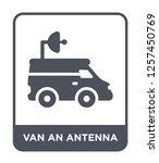 van an antenna icon vector on... | Shutterstock .eps vector #1257450769