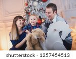 happy family with a child spend ... | Shutterstock . vector #1257454513