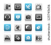communication icons    matte... | Shutterstock .eps vector #125745656