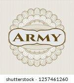 brown abstract linear rosette... | Shutterstock .eps vector #1257461260