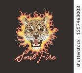 Leopard Head With Fire. Soul...