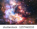 nebula an interstellar cloud of ... | Shutterstock . vector #1257463210