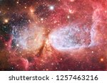 nebulae an interstellar cloud... | Shutterstock . vector #1257463216