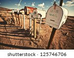 old mailboxes in west united... | Shutterstock . vector #125746706