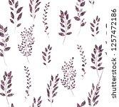 violet  glitter  floral element ... | Shutterstock .eps vector #1257472186
