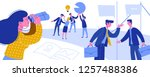 business intelligence creative... | Shutterstock .eps vector #1257488386