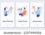 data processing software ... | Shutterstock .eps vector #1257494356