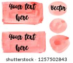 set of watercolor stain. spots... | Shutterstock .eps vector #1257502843