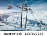 attractive view on skiing area... | Shutterstock . vector #1257507163